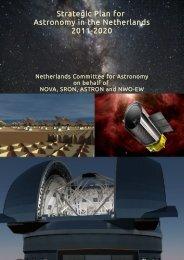 Strategic Plan for Astronomy in the Netherlands 2011-2020 - NOVA