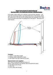 1 Fitting Instructions For Slab Reefing Kit Part No ... - Barton Marine