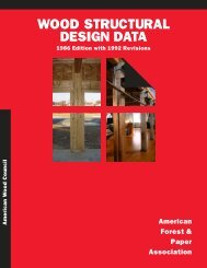 Wood Structural Design Data - American Wood Council