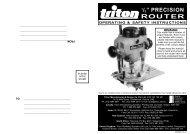 TRA001 Discontinued Manual - Triton Tools | Home