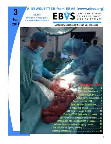 Newsletter 3 - EBVS