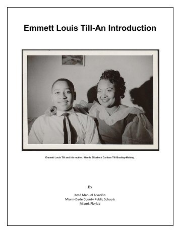 Emmett Louis Till-An Introduction