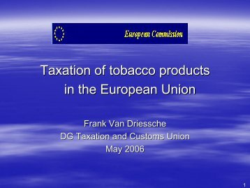 excise duty/tobacco