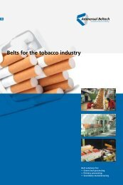 Belts for the tobacco industry - Ammeraal Beltech
