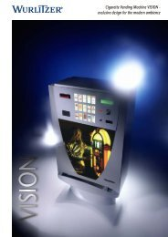 @ Cigarette Vending Machine VISION - WU R exclusive ... - Wurlitzer