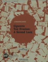 Cigarette Tax Evasion: A Second Look - University of North Texas ...