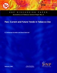 Past, Current and Future Trends in Tobacco Use - PAHO/WHO