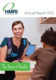 2011 HMRI Annual Report - Hunter Medical Research Institute