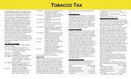 TOBACCO TAX - Arizona Department of Revenue