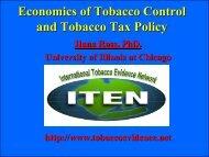 Economics of Tobacco Control and Tobacco Tax Policy