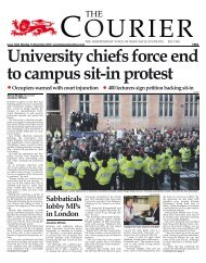 13th December (Issue 1222) - The Courier