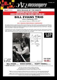 bILL evanS trIo at tHe eaStman tHeatre 1977 - Jazz Messengers