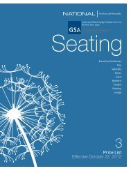 GSA Seating Price List - National Office Furniture