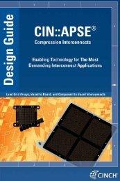 CIN::APSE Design Guide - Cinch Connectors