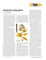 Desperately seeking quinine. - American Chemical Society ...