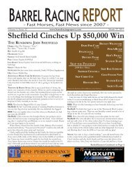Sheffield Cinches Up $50,000 Win - Barrel Racing Report