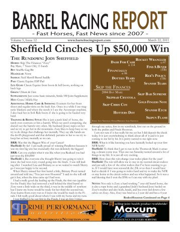 Sheffield Cinches Up $50,000 Win - Barrel Racing Report