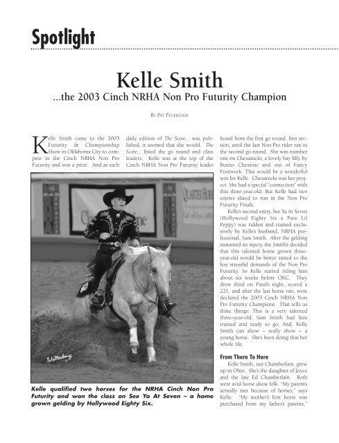 Kelle Smith - Sam Smith Reining Horses