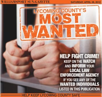 Lycoming County's Most Wanted - Williamsport-Sun Gazette