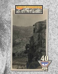 SpecificationS - Western Mountaineering