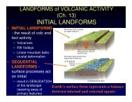 INITIAL LANDFORMS - Earth Sciences