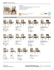 Acquaint Product Offering - National Office Furniture