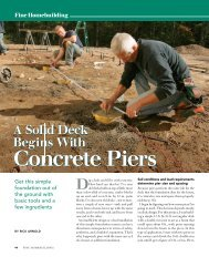 A Solid Deck Begins with Concrete Piers - Fine Homebuilding