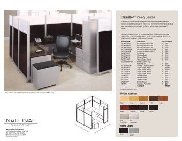 chameleon privacy solution national office furniture