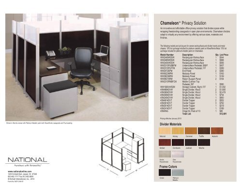 Chameleon™ Privacy Solution - National Office Furniture
