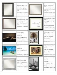 Hemingway Mirror - Large Frame: 2 1/2