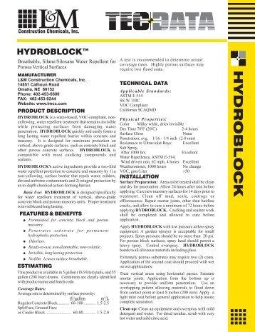 H Y D R O B L O C K - L & M Construction Chemicals
