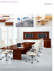 Table Solutions Brochure - National Office Furniture