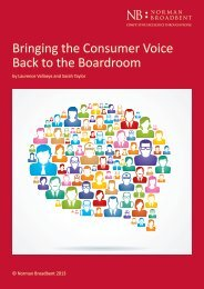 Bringing the Consumer Voice Back to the Boardroom