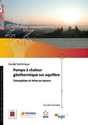 Pompe à chaleur géothermique sur aquifère - Géothermie ...