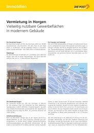 Immobilien Vermietung in Horgen - Die Schweizerische Post