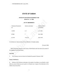 Intestate Succession Ordinance 1960 - Sabah Lawnet