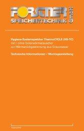 Montageanleitung HS-BMTC - Forstner Speichertechnik GmbH