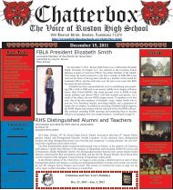 December 2011 Chatterbox - Ruston High School