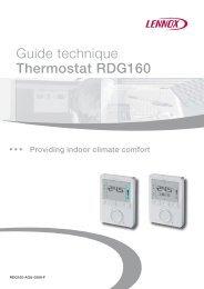 Régulateurs compacts muraux avec affichage RDG1… - Lennox