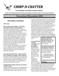 Chirp 'N Chatter November 2012 - Wintu Audubon Society