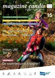 Magazine Eandis 15 - Novembre 2010 - 'Le gaz naturel
