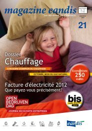 Magazine Eandis 21 - Septembre 2012 - 'Dossier chauffage'