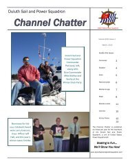 Channel Chatter - Duluth Sail & Power Squadron