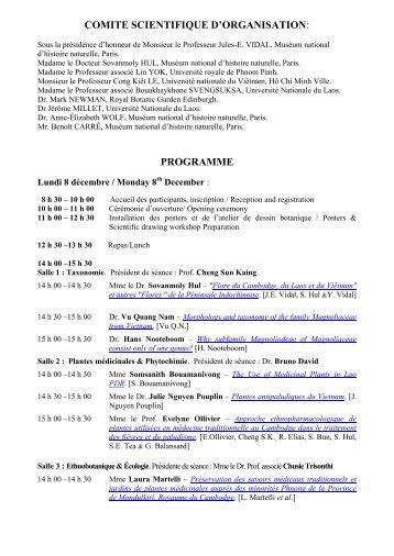1er Symposium de la Flore du Cambodge, du ... - Flora Indochina