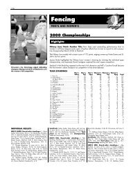 1999-00 NCAA National Collegiate Fencing Championships Records