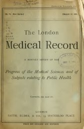 London medical recorder - Index of