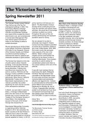 Spring Newsletter 2011 - The Victorian Society