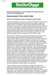 Assicurazioni, Sna contro Sara - Sindacato Nazionale Agenti di ...