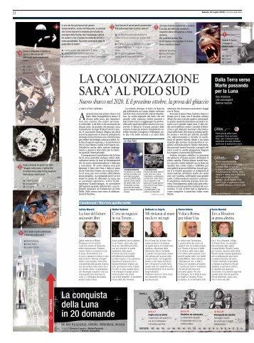 LA COLONIZZAZIONE SARA' AL POLO SUD - Corriere della Sera