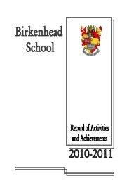 GCSE Results 2010 - Birkenhead School